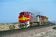 ATSF 806 rounds the curve at Klondike, CA in May 1993.
