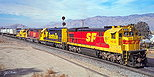 ATSF 8141 eastbound at Bealville, CA in December, 1988.