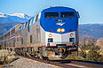 Amtrak 166 with the Southwest Chief at Rowe, NM on Novembe 30, 2013.