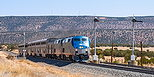 AMTK 193 leads the Southwest Chief at East Chapelle, NM on April 19, 2013.