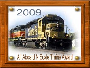 All Aboard N Scale Trains Award - 2009