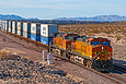 BNSF 4092 is starting downhill at East Ash Hill, CA on November 17, 2011.
