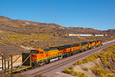 BNSF 538 is the last of 5 units at Cajon Pass - MP58 on October 29, 2008.