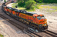 BNSF 6101 leaves Fort Scott Sub at 29th St. in Kansas City, MO on June 9, 2011.