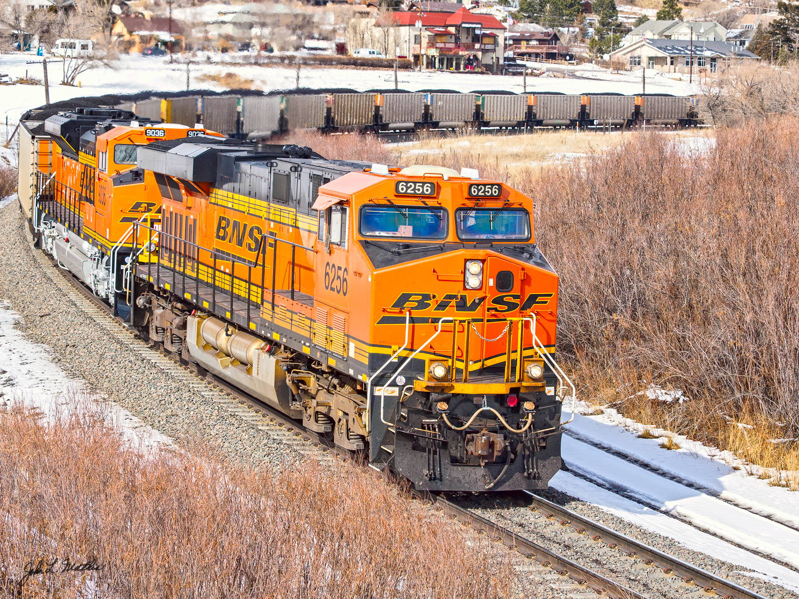 BNSF 6256 at Palmer Lake, CO on February 9, 2014.