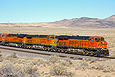 BNSF 7336 east of Dalies, New Mexico on January 2, 2010.