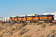 BNSF 970 west of Dalies, NM on January 3, 2014.
