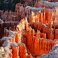 Bryce Canyon Hoodoos at Sunrise on August 15, 2010